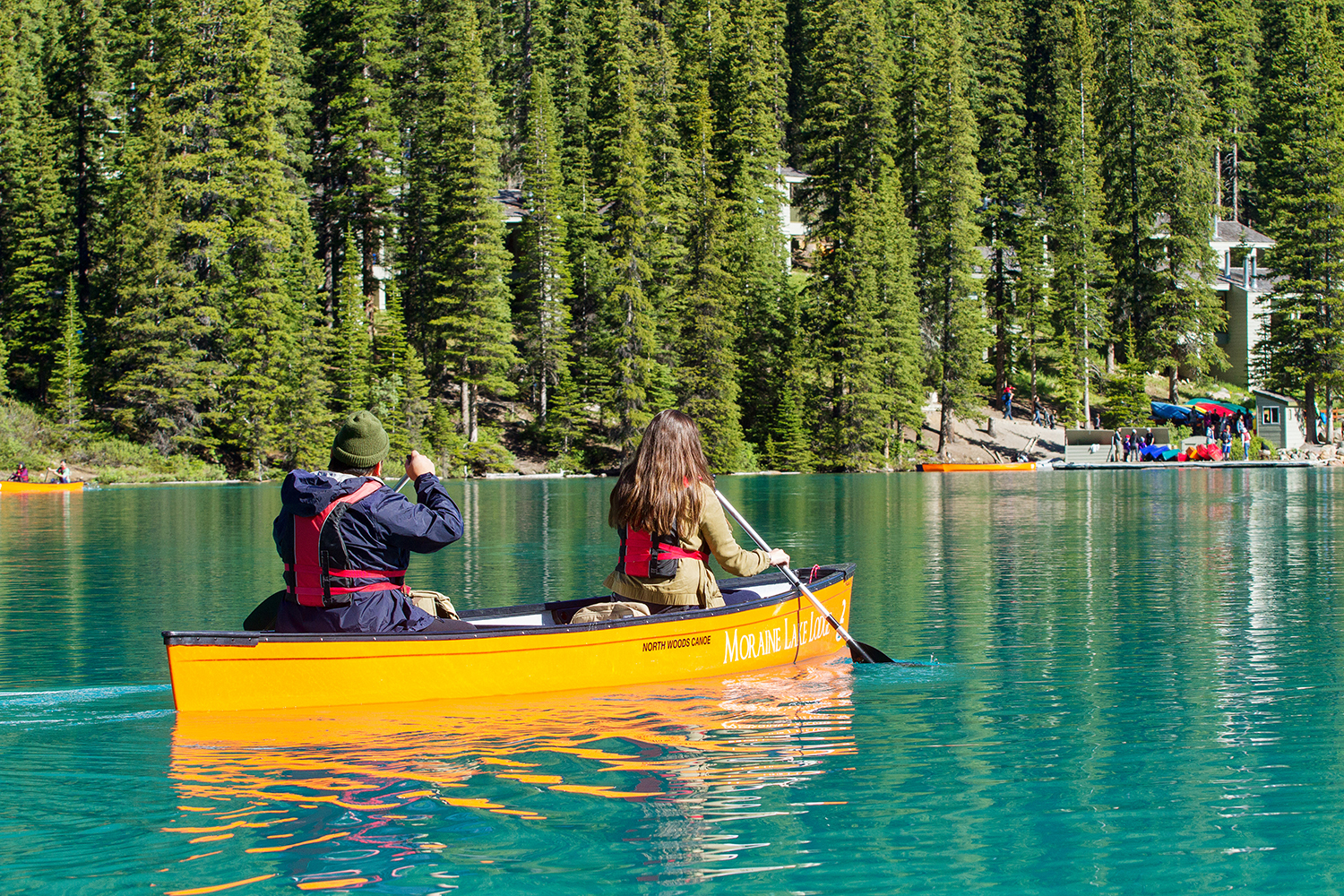 Cml Activities Gallery Moraine Lake Canoeing Cathedral